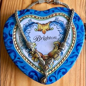 Vintage Brighton Silver & Gold Necklace & Tin
